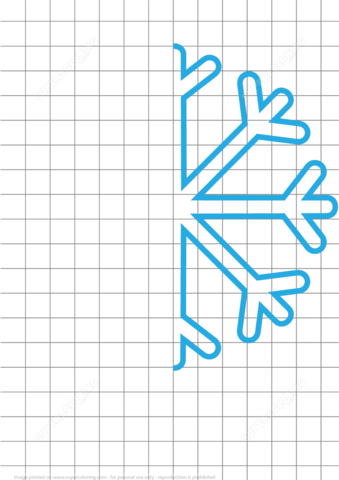 Draw Snowflake Grid Puzzle Free Printable Puzzle Games