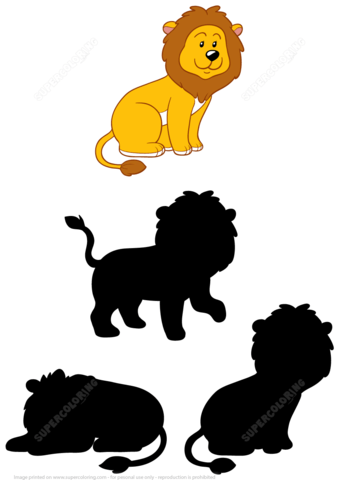 Find The Correct Shadow Of Lion Puzzle Free Printable