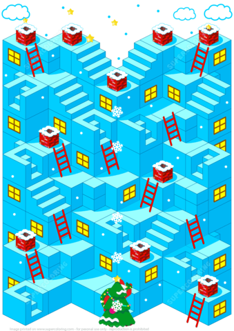 Christmas Maze Puzzle Free Printable Puzzle Games