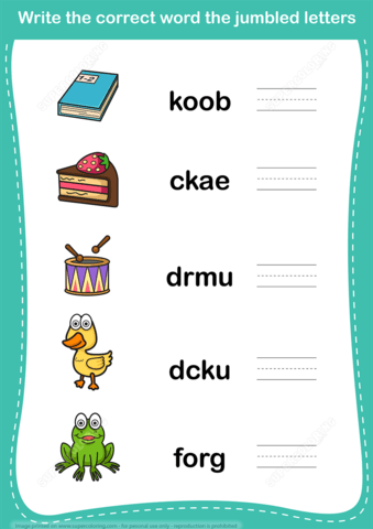 Unscramble Word Worksheet Copy  Free Printable Puzzle Games