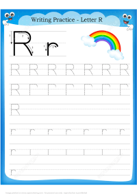 Letter R is for Rainbow Handwriting Practice Worksheet ...