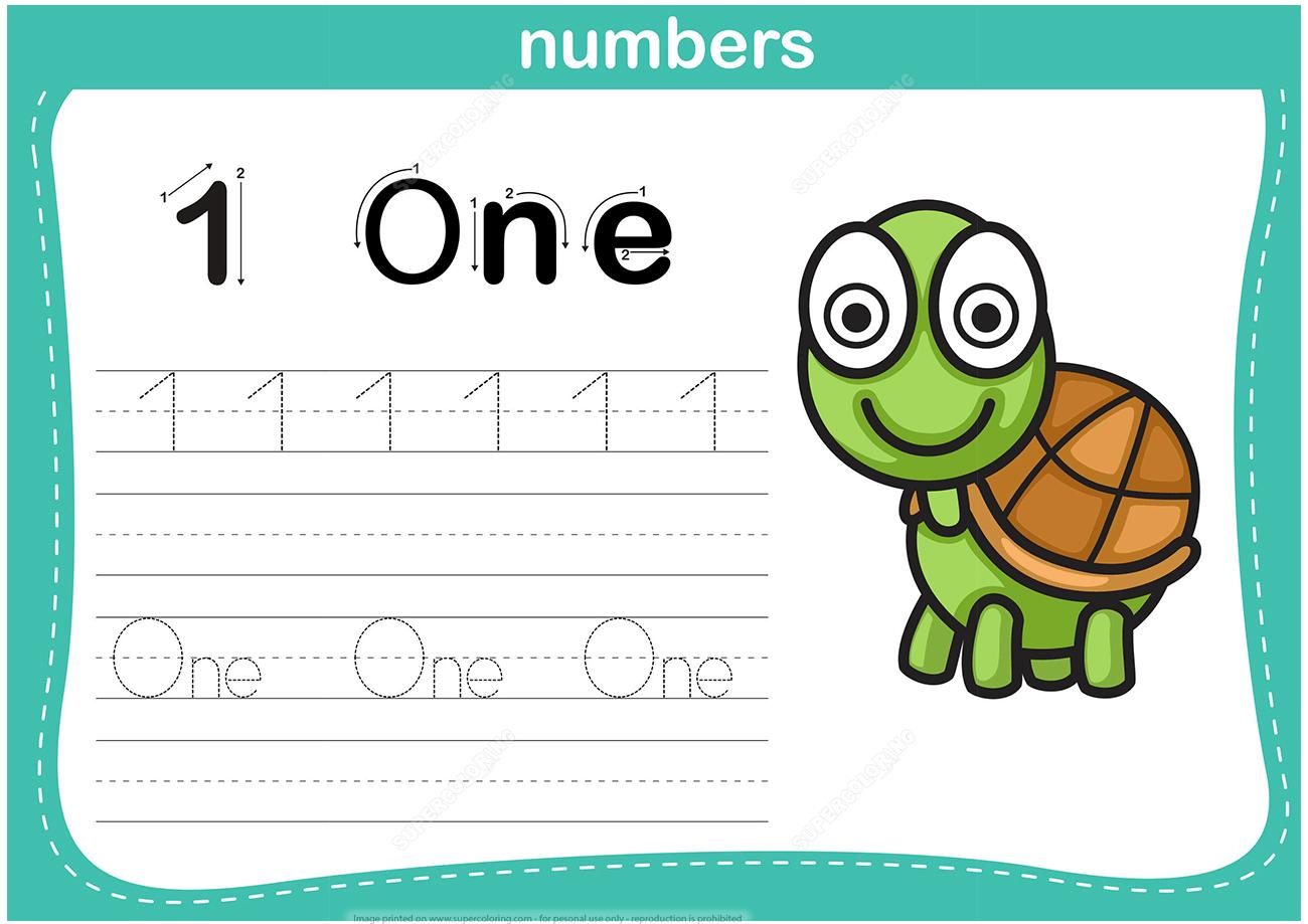 Preschool Number Worksheet 1 Through 20