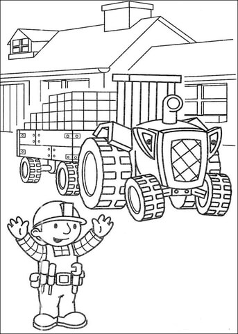 Bob The Builder Colouring In