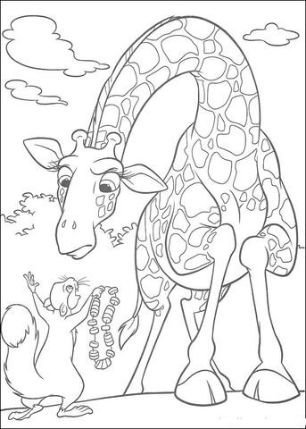 Giraffe mask template