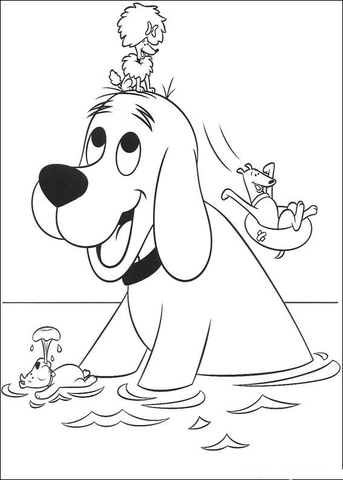 Amazing Coloring Pages: Clifford printable coloring pages