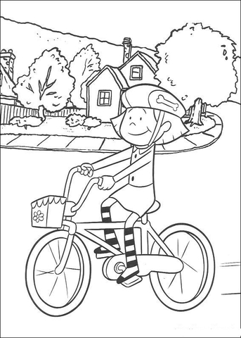 Bike Riding Printable Coloring Pages