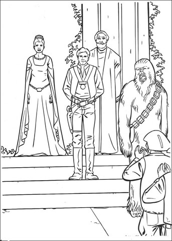 Star Wars victory celebration coloring page