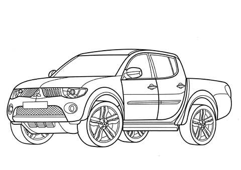 Click Mitsubishi L200 Coloring Page View Printable Version