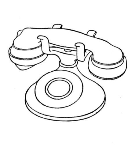 Telephone Coloring Page Printable Coloring Pages