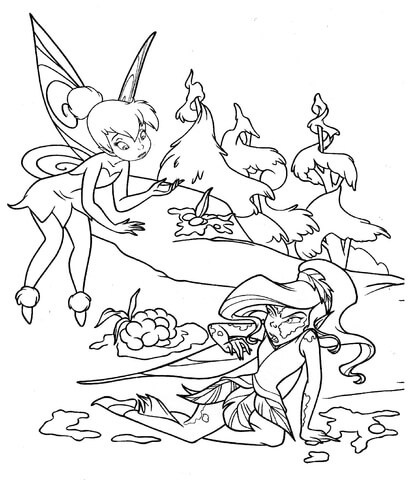 crayola coloring pages free printable of tinkerbell