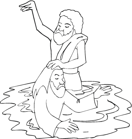JESUS BAPTIZED COLORING PAGE « Free Coloring Pages