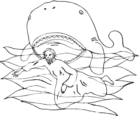 JONAH WHALE COLORING PAGE « Free Coloring Pages