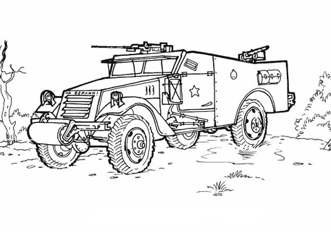 picture coloring book: Armoured Troop Carrier Coloring