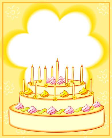 Birthday Card With 13 Cadles