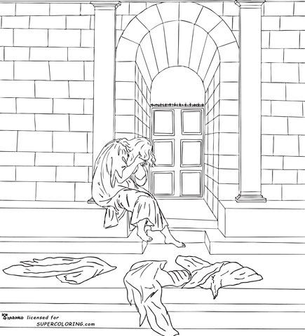 The Melancholy By Sandro Botticelli Coloring Page
