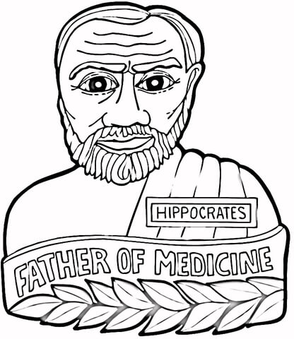 Hippocrates Father Of Medicine coloring page