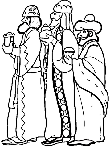 3 Wise Men Coloring Pages