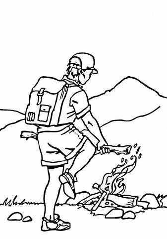 Plateau Landform Coloring Page Sketch Coloring Page