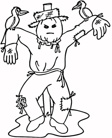 Scarecrow coloring pages