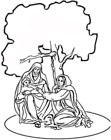 COLORING MARY PICTURE VIRGIN « Free Coloring Pages