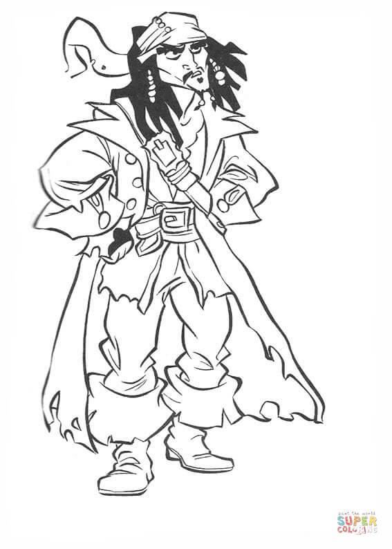 Piraten-Malvorlagen