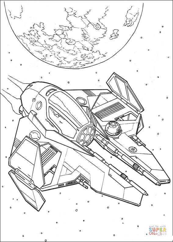 Big star wars ships colouring pictures