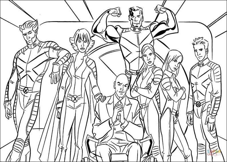X-Men Coloring Pages