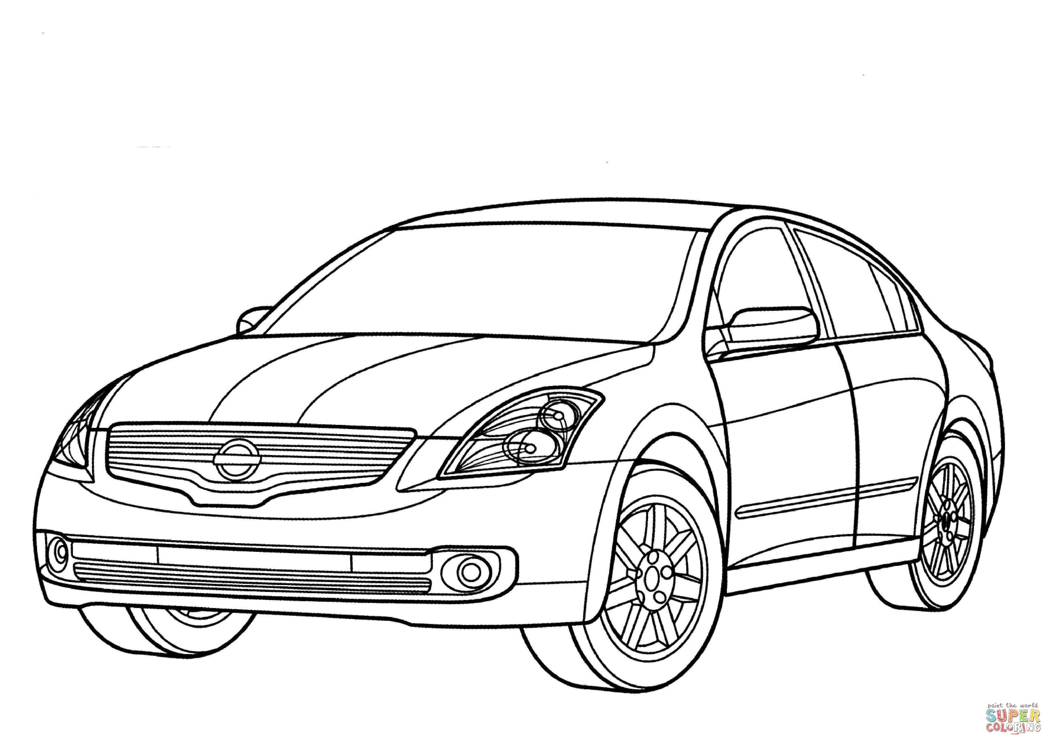 Nissan Altima Hybrid Coloring Online