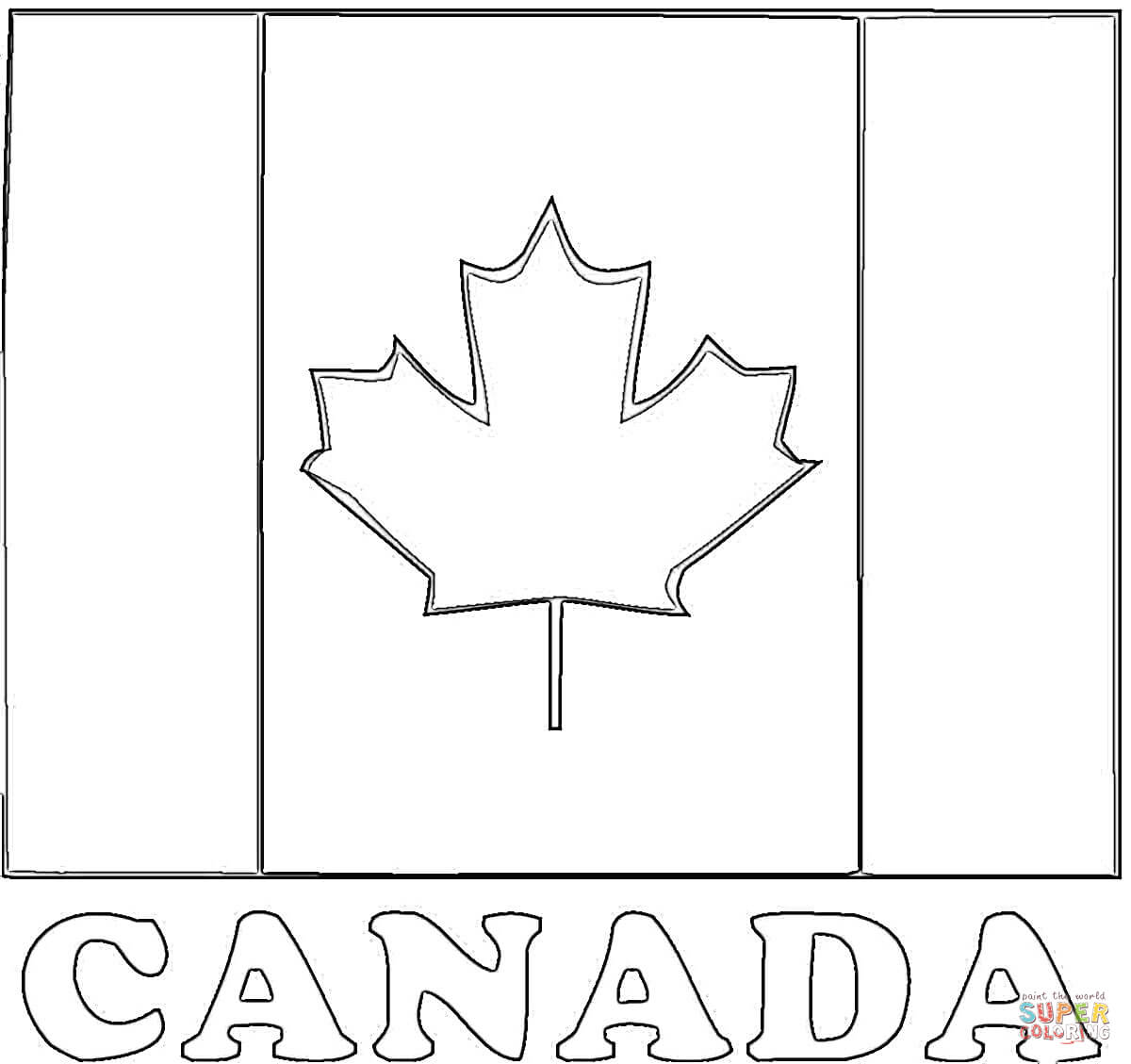 Flag Of Canada Coloring Online