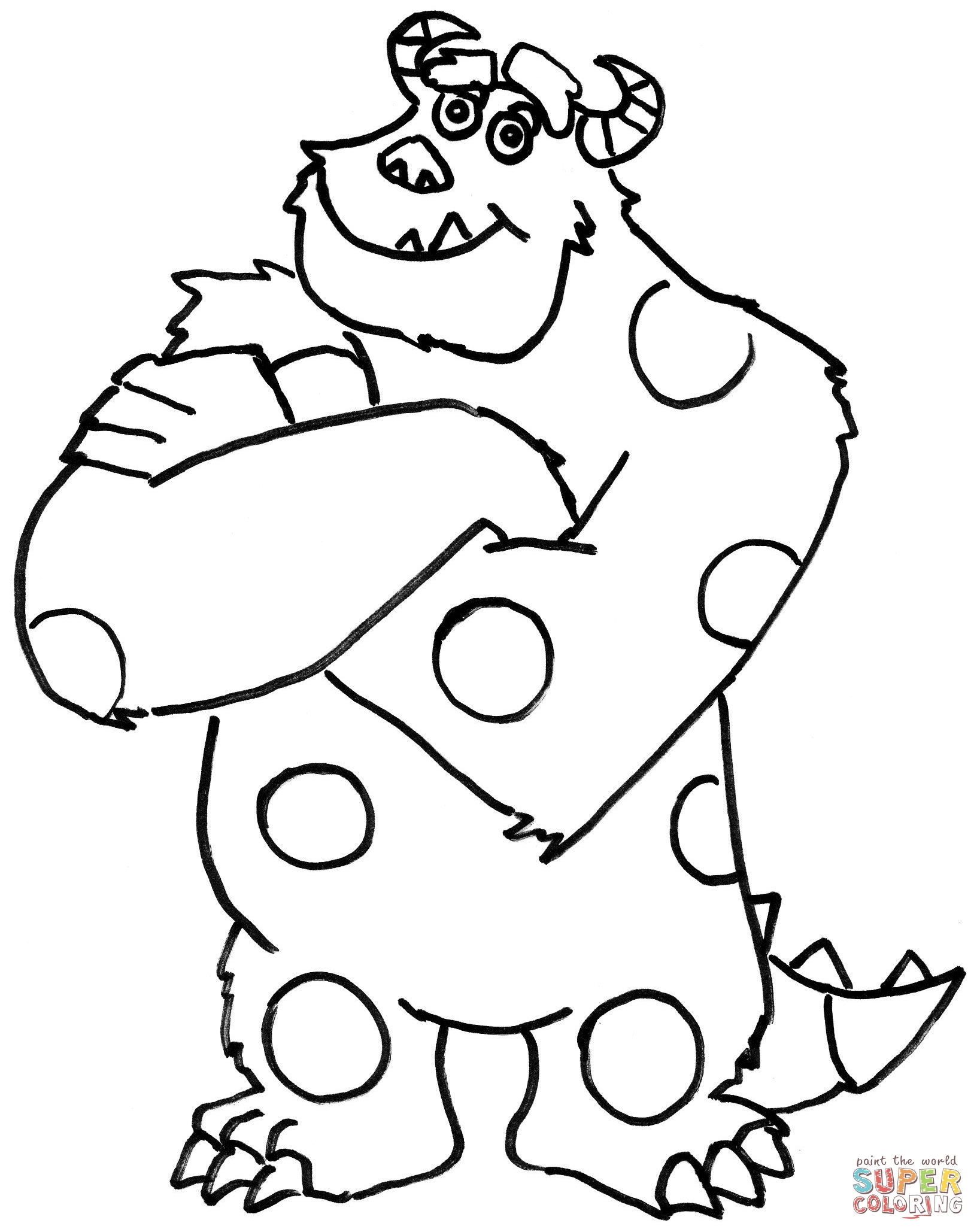 Coloring Monsters Inc Door Coloring Pages