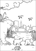 Free printable coloring sheet little bear Trials Ireland