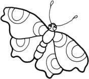 tinkerbell coloring sheets: Butterfly Coloring Pages