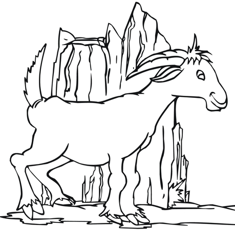 Funny Goat coloring page SuperColoringcom