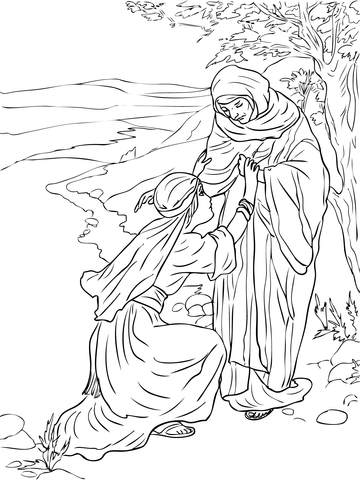 Pin Moses Kills The Egyptian Overseer Coloring Page Super