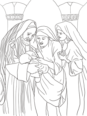 Angel And Zechariah Coloring Page Coloring Pages