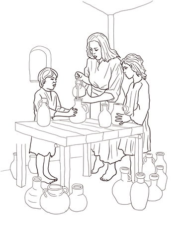 Elishas Room Coloring Page Coloring Pages