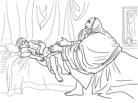 Elisha And Widow Coloring Page Coloring Pages