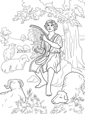 Dibujo Para Colorear Dios Egipcio
