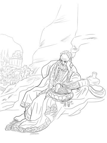 Jeremiah Lamenting the Destruction of Jerusalem coloring