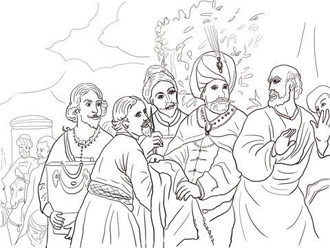 Elisha Printable Coloring Pages