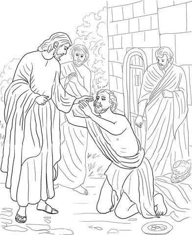 Jesus Heals Boy Coloring Page Coloring Pages