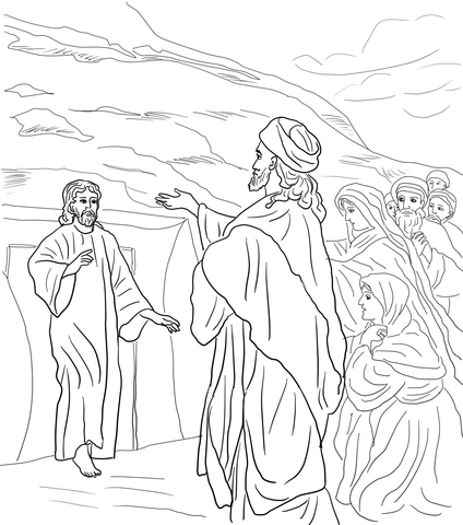 The Rich Man And Lazarus Coloring Pages Coloring Pages