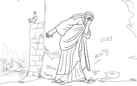Peter Denies Jesus Three Times coloring page