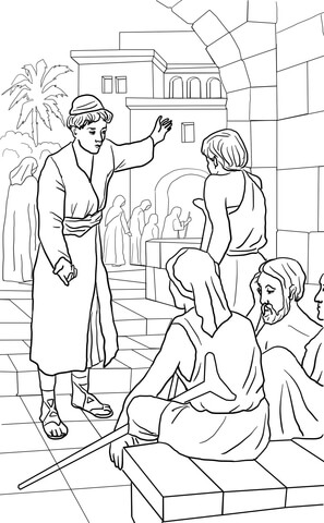 Parable of the Great Banquet coloring page