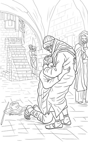 The Return of the Prodigal Son coloring page