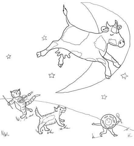 Preschool Hey Diddle Diddle Coloring Page Coloring Pages