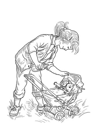 Fern Coloring Page Sketch Coloring Page