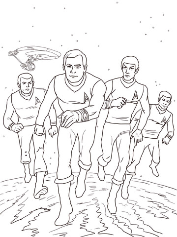 Star Trek The Animated Series Coloring Page