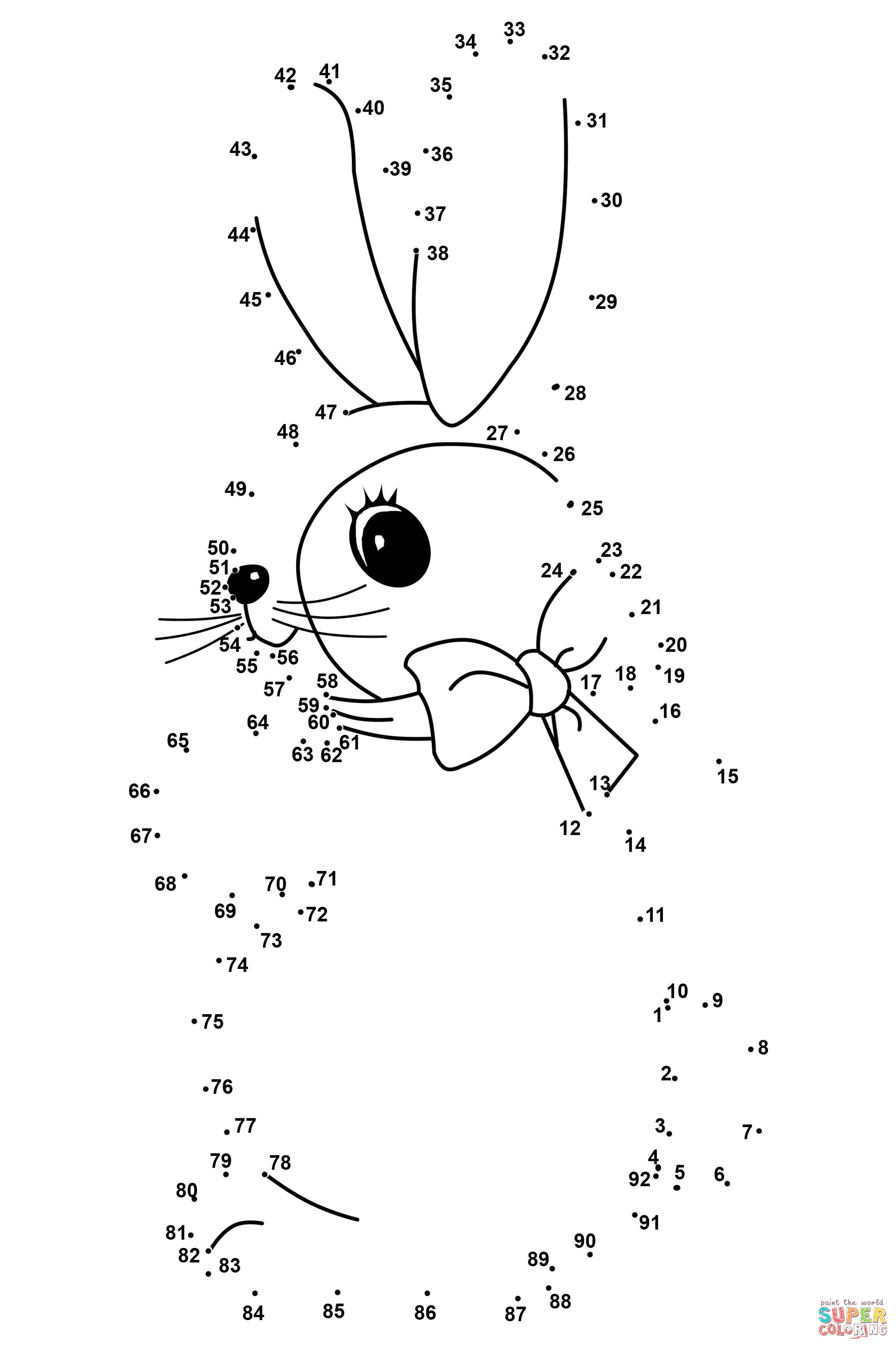 Easter Rabbit Dot To Dot Online