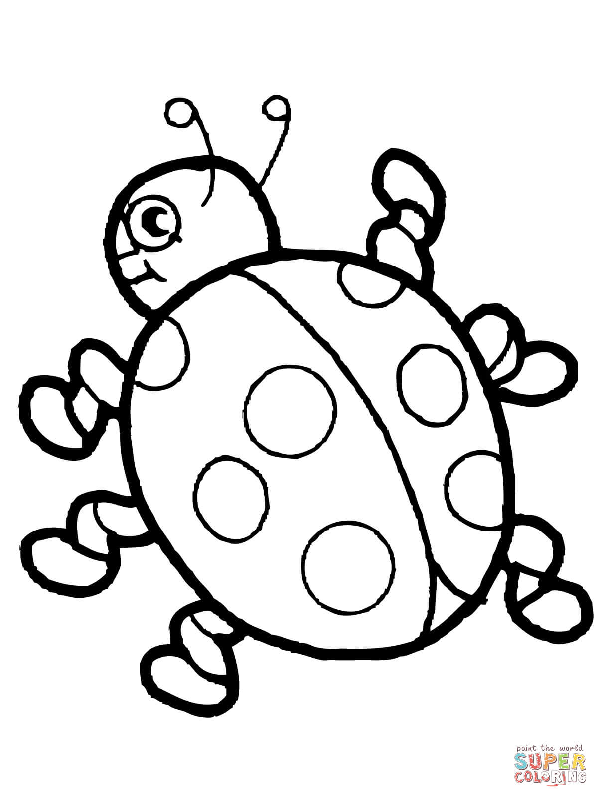 Cute Ladybug Coloring Online